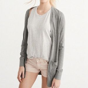 Abercrombie & Fitch Lightweight Grey Cardigan
